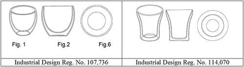 Industrial Design Reg. No. 107,736 and No. 114,070